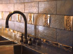 metal backsplashes for kitchens metal tile backsplashes hgtv