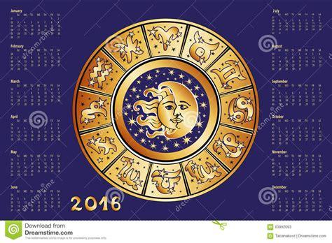 Astrologie Calendrier Calendrier 2016 Cercle D Horoscope Signe De Zodiaque