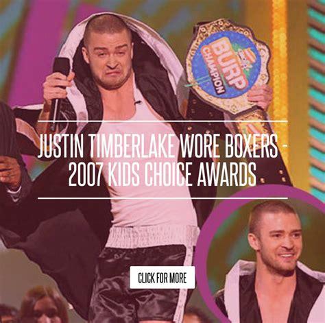 Justin Timberlake Wore Boxers 2007 Choice Awards justin timberlake wore boxers 2007 choice awards