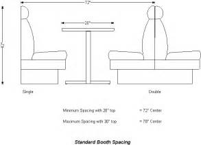 Building A Banquette Bench Table Dimensions Booth Spacing Restaurant Design