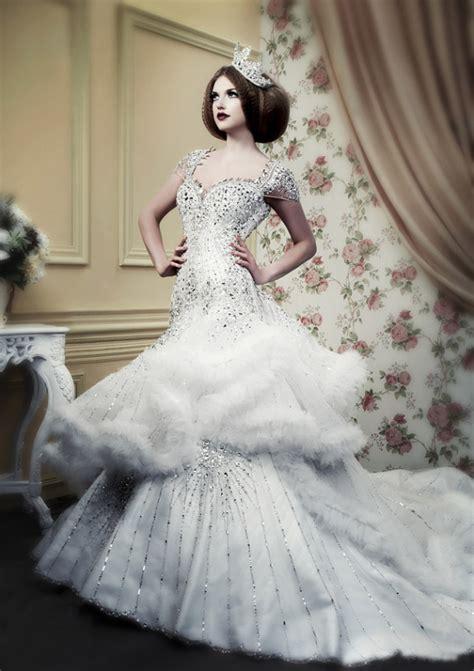 royal style winter wedding dresses fom michael cinco