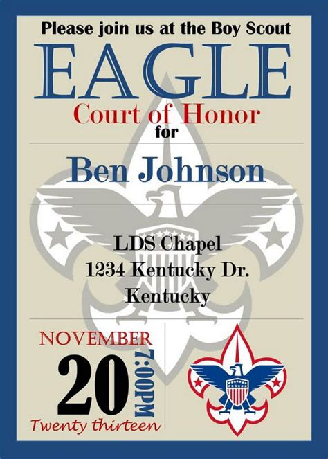 eagle scout card template 10 cool eagle scout invitations hative