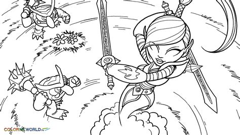 Ninjini Coloring Pages free kleurplaat skylanders coloring pages