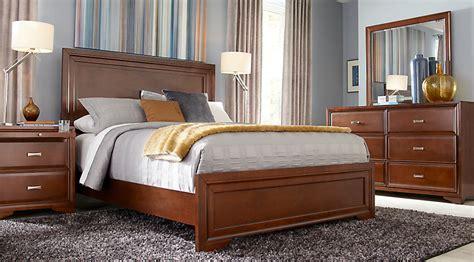 belcourt cherry  pc queen panel bedroom queen bedroom sets dark wood