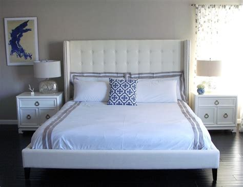 white studded headboard white studded headboard contemporary bedroom