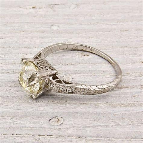 european vintage engagement ring set in