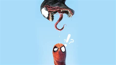 spider man  venom minimal artwork   wallpapers hd wallpapers id