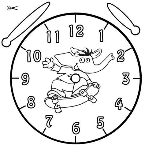 Kostenlose Vorlage Uhr Kostenlose Malvorlage Uhrzeit Lernen Ausmalbild Bimbo Zum Ausmalen