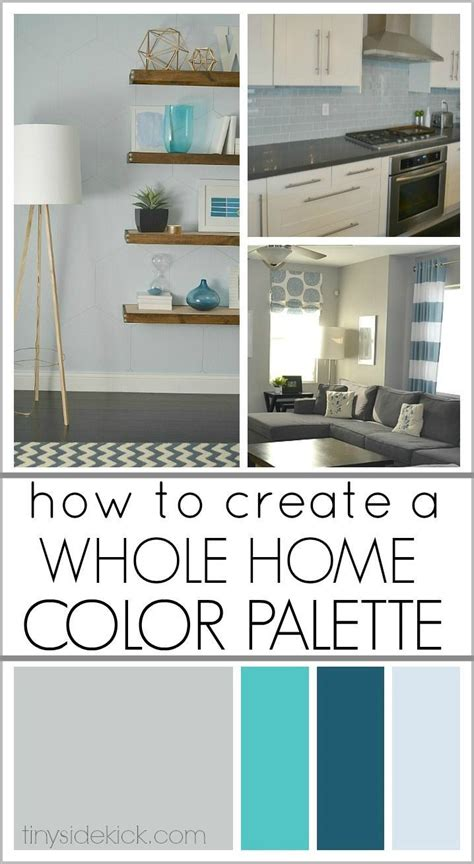 how to create a whole home color palette diy home decor