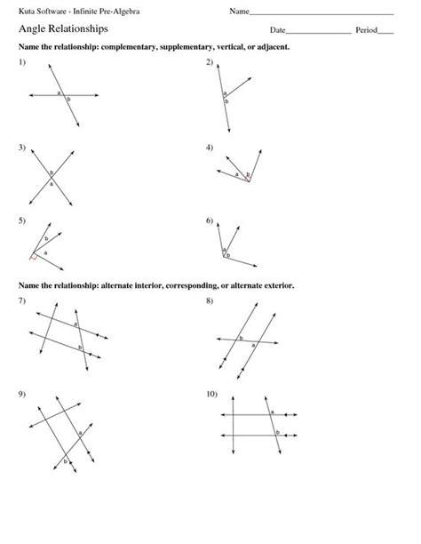 Infinite Math Worksheets by Alt Interior Angle Worksheets Kuta Software Infinite Pre