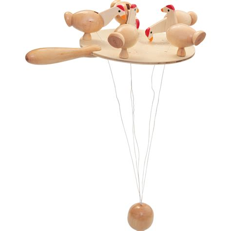 swinging ball toy new wooden pecking chickens game tradtional classic gift