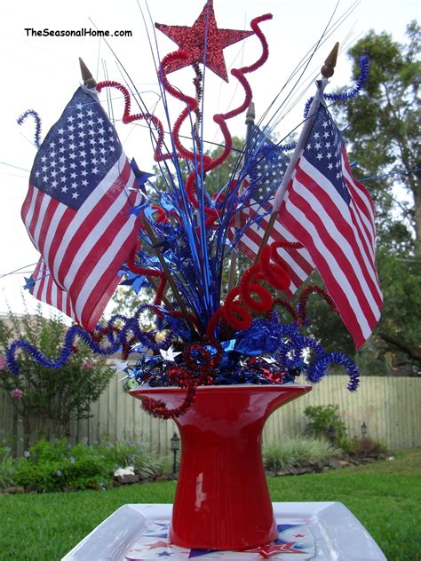 Patriotic Decorations For Home A Patriotic Picnic Challenge 171 The Seasonal Home