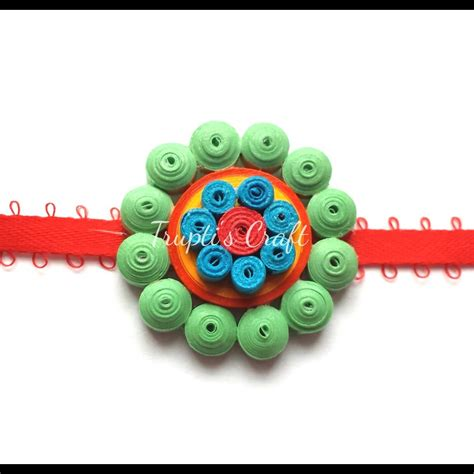 How To Make Rakhi With Paper - trupti s craft paper quilling rakhis