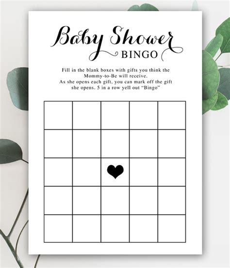 Bingo For Baby Shower Free Printable by Free Baby Shower Printable Black And White Bingo