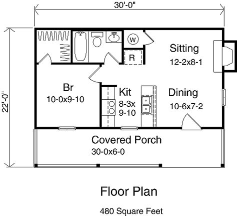 Pics Inside 14x30 House by House Plan 1 Beds 1 Baths 480 Sq Ft Plan 22 127