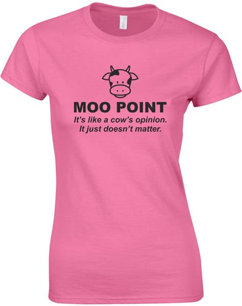 Point T Shirts moo point printed t shirt ebay