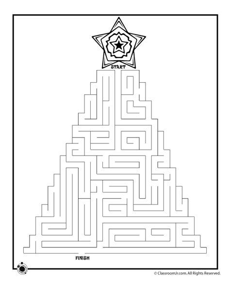 printable holiday mazes free christmas tree maze 1 woo jr kids activities
