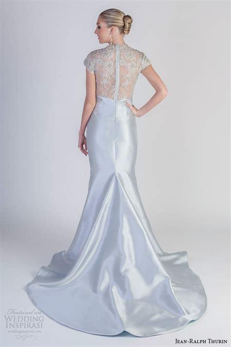 Blue Mermaid Dress By Ralph jean ralph thurin bridal 2016 wedding dresses