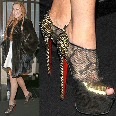 Lindsay Lohan In Christian Louboutins by 17 Best Images About Lindsay Lohan S Favorite Shoes On