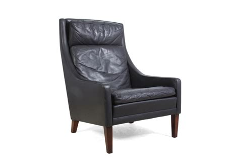 mid century leather high back armchair the furniture rooms
