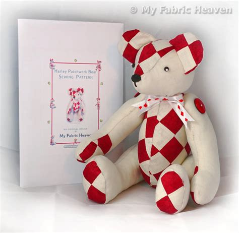 Patchwork Teddy Pattern - harley 14 patchwork teddy sewing pattern by