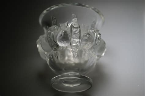 lalique bird vase lalique glass bird vase in glass