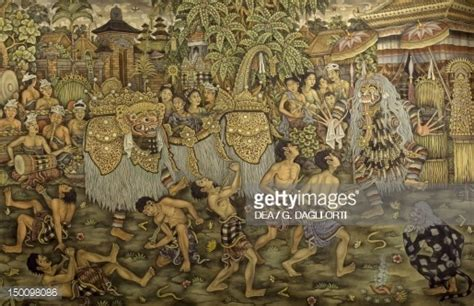 painting for java barong celebrations fabric painting java civilisation