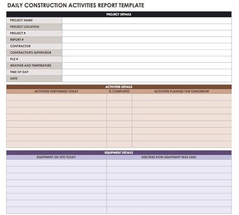 construction daily report template microsoft work performed template gallery exle resume