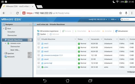 android vmware vmware host client html5 based web client on android virten net