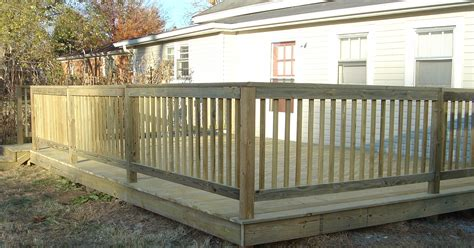 decking banister installed handrails and decks