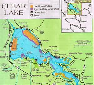 clear lake map california 2017 clear lake fishing map fishing report and where to