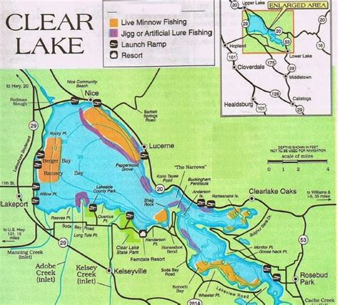 lake county california map 2018 clear lake fishing map fishing report and where to