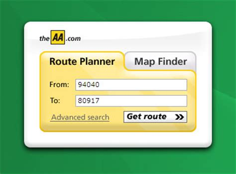 aa route map uk using aa route finder to search aa route map roads from