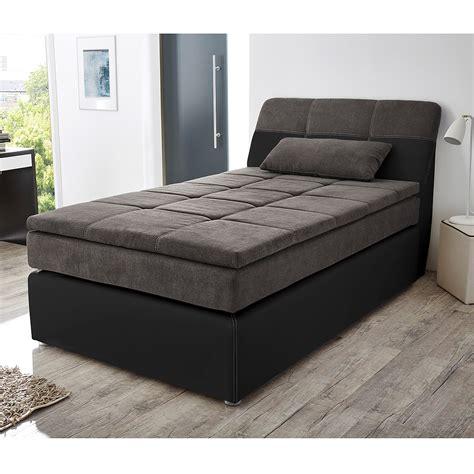 boxspringbett odessa schlafzimmerbett bett in schwarz grau - Bett 120x200 Schwarz