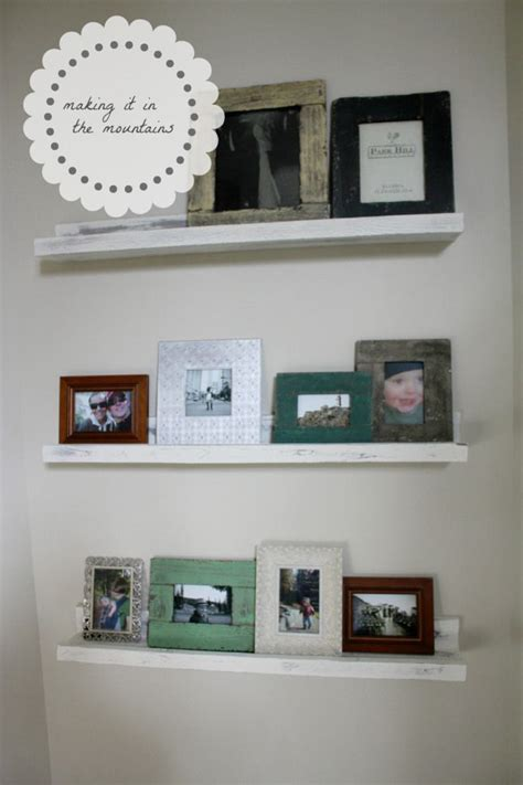 diy picture ledge shelves something to make