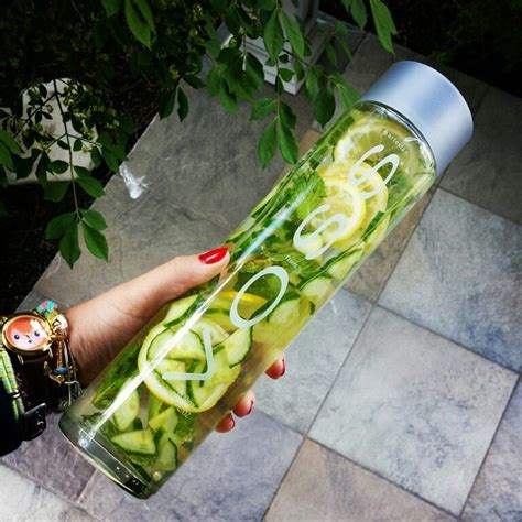 Cucumber And Mint Water Detox by Healthy Living Voss Water With Lemon Cucumber And Mint