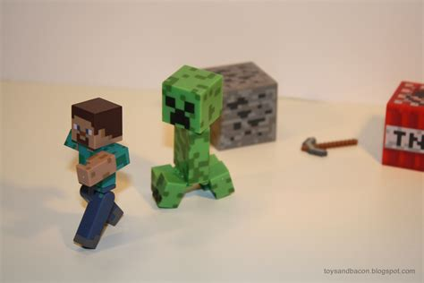 minecraft figures toys and bacon minecraft figures a review