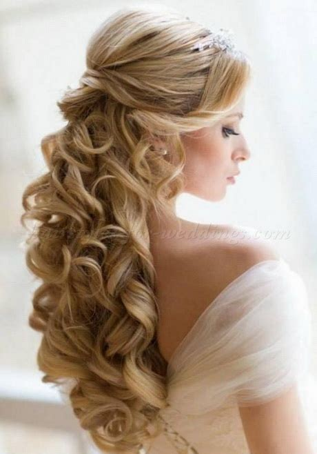hairstyles left down wedding hairstyles for long hair half up half down