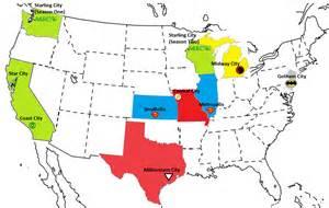 Dc Comics Map Of Usa by Dc Comics Universe Cities