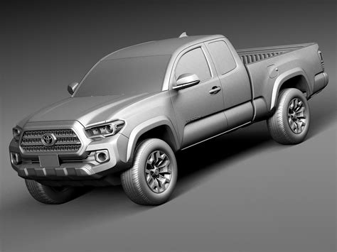toyota car models 2016 toyota tacoma trd off road 2016 3d model max obj 3ds