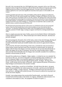 Beowulf Essay by Beowulf Essay Docsity