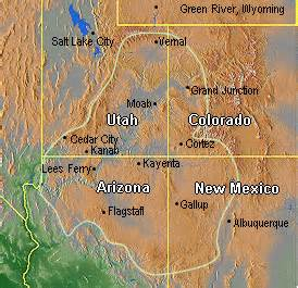 Colorado Plateau Map by July 2012 Southwestdesertlover