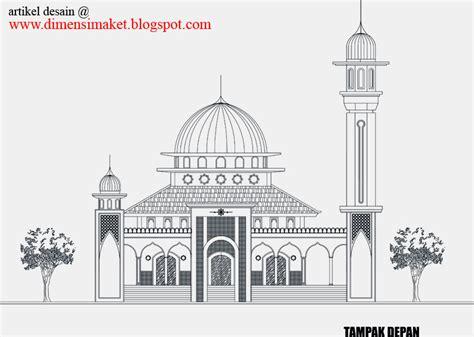 contoh desain gapura masjid desain masjid musholla 002 contoh gambar desain masjid