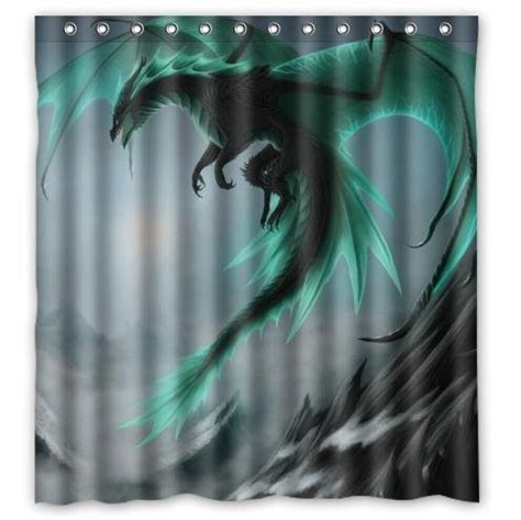 dragon curtains custom it monster cool dragon design sea