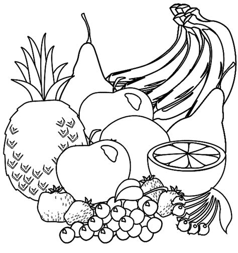 healthy eating food coloring sheet coloring pages