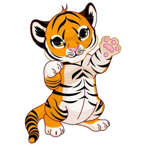 tiger cartoon clipart standing baby tiger clipart   Clip