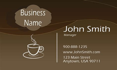 Coffee Shop Business Card Template by Coffee Shop Business Card Design 1001131