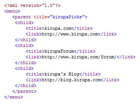 xml tutorial with exles kirupa com reading xml files sequentially page 1