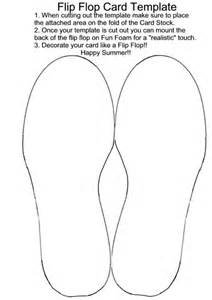 flip flop template pin printable flip flop template on