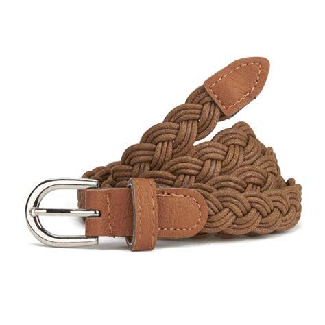 impulse s plaited belt brown clothing zavvi